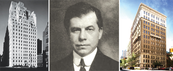From left: 740 Park Avenue, Edward Murray Bassett and 378 West End