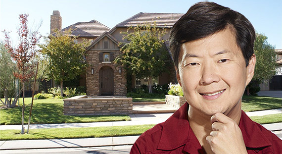 Ken Jeong and his new home in Calabasas (Credit: Alchetron, Trulia)