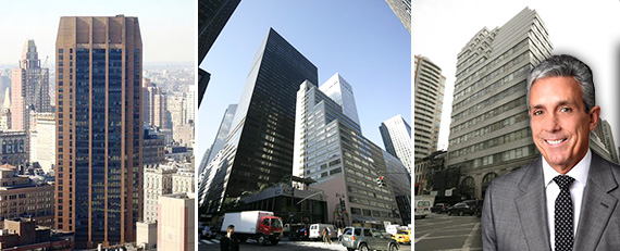 From left: 3 Park Avenue, 622 Third Avenue, 979 Third Avenue and Charles Cohen