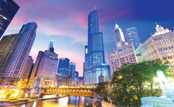 The Chicago River from Michigan Avenue