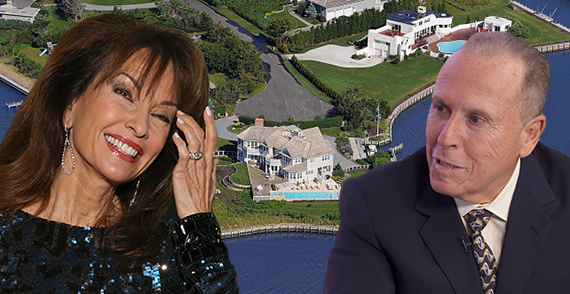 Susan Lucci, Robert Olstein and Olstein new property at 19 Duck Point Road (Credit: Getty, douglas Elliman, YouTube)