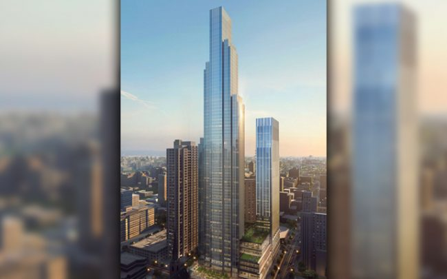 A rendering of One Chicago Square