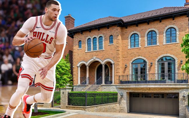 Zach LaVine and 1746 West Surf Street (Credit: Getty Images)