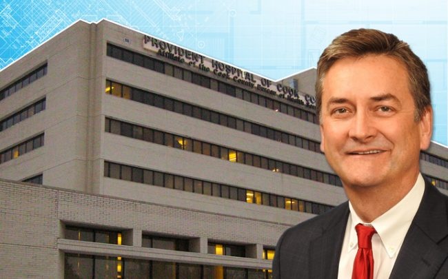 Dr. John Jay Shannon, CEO of Cook County Health and Provident Hospital (Credit: Cook County Health and Wikipedia)
