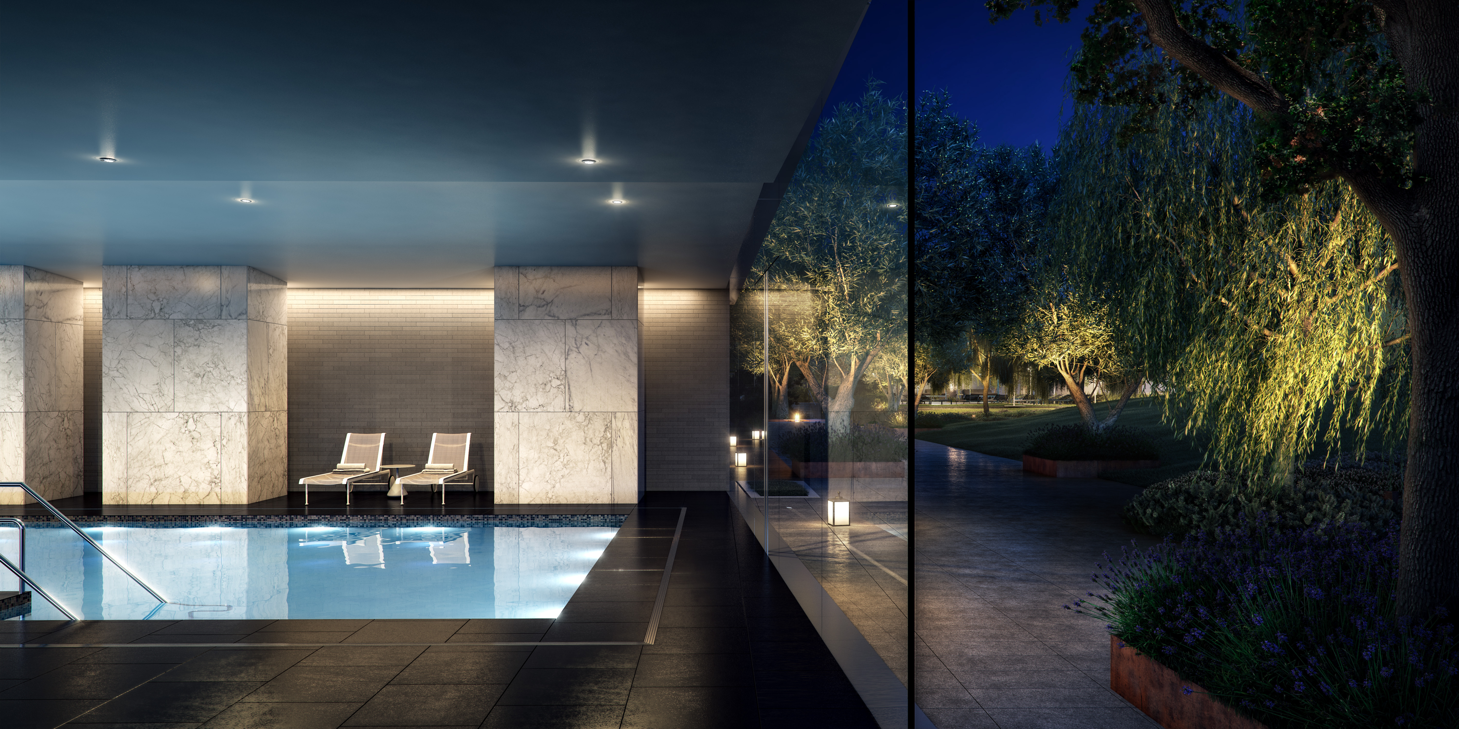 A rendering of the pool