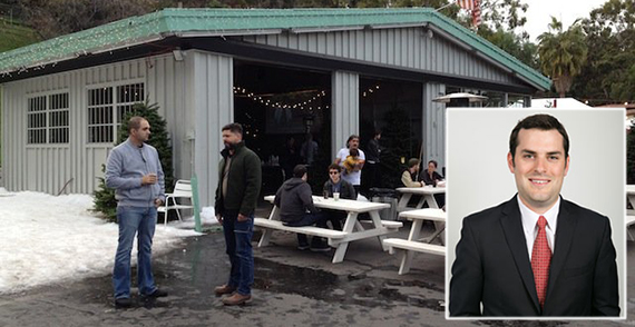 3160 Riverside Drive as an event space in 2013 and Adam Eisenberg of Bolour (credit: Yelp, Bolour)