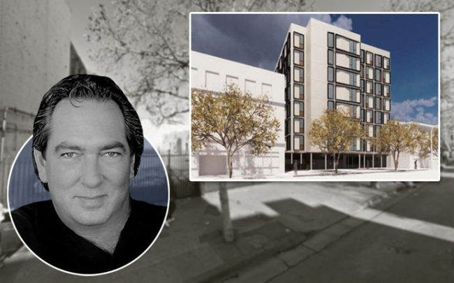 Relevant Group Managing Partner Richard Heyman and a rendering of the project on 5th Street