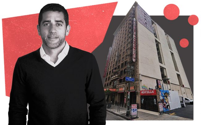 Slate Property Group co-founder Martin Nussbaum and the Hotel Cecil (Slate, Google Maps)