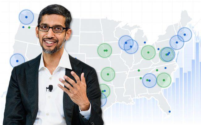 Google to invest $13B in real estate across the US