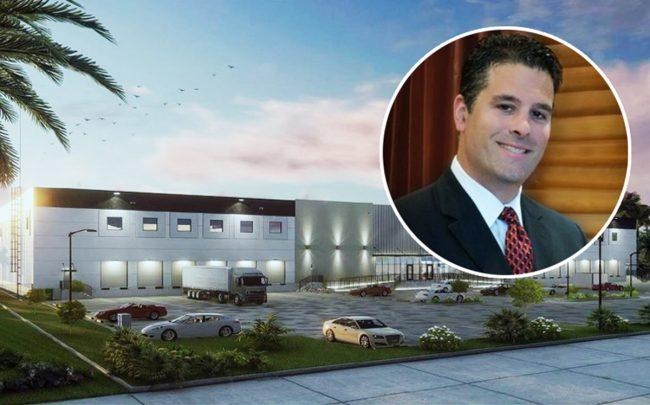 Easton & Associates president Jose Hernandez-Solaun and rendering of Interglass Corporation's new location