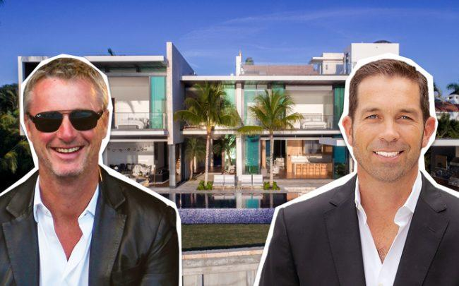 Julian Johnston and Eddie Irvine with 428 South Hibiscus Drive