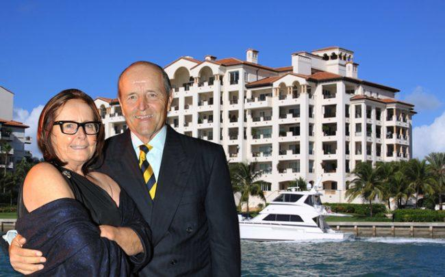 Kenneth and Karen Heithoff with 4911 Fisher Island Drive