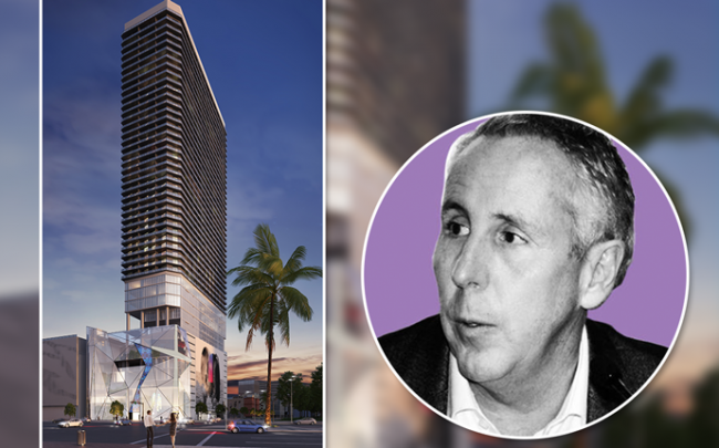 Renderings of 400 Biscayne and Kevin Maloney