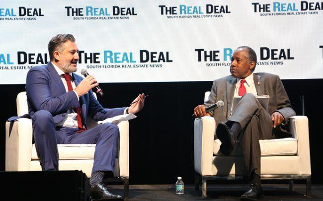From left: Amir Korangy and Secretary of Housing and Urban Development Dr. Ben Carson