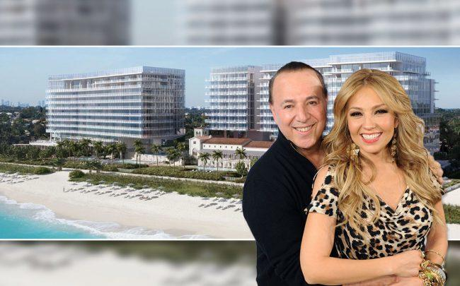 Four Seasons Residences at The Surf Club with Tommy and Thalía Mottola (Credit: Craig Barritt/Getty Images)