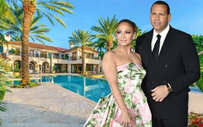 Jennifer Lopez, Alex Rodriguez and 13 Star Island Drive (Getty, Realtor)