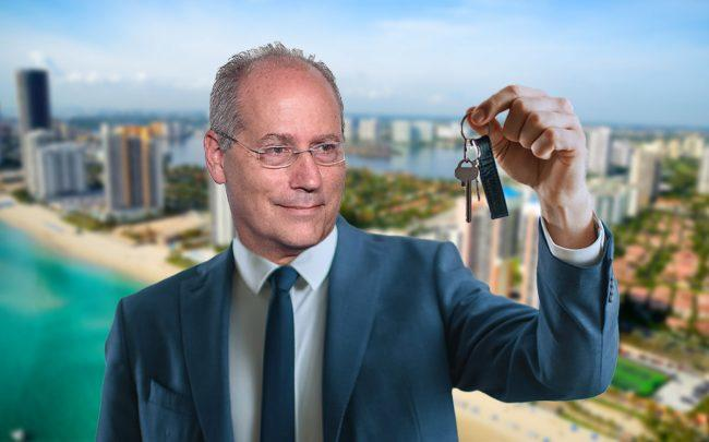 An illustration f Mayor of Miami Beach Dan Gelber (Credit: Nicholas Hunt/Getty Images)