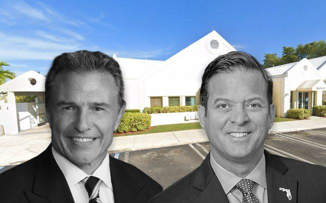 John Bardis, Carlos Lopez-Cantera, and the office (Credit: Google Maps)