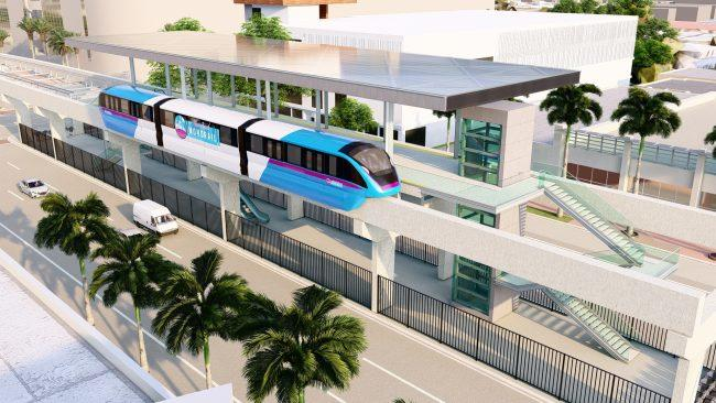 A rendering of the monorail
