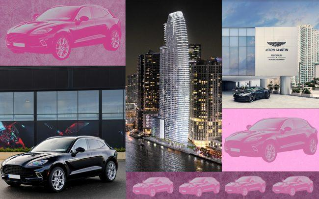 Photo of the new Aston Martin DBX and the Aston Martin Residences (Aston Martin)