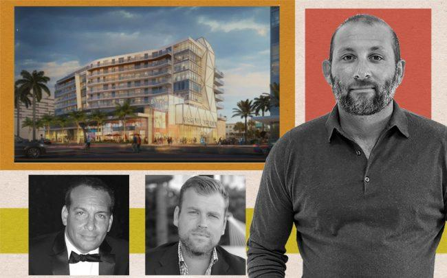 Rendering of Byron Carlyle Cultural Center, with Matis Cohen, Jared Galbut and Keith Menin (Miami Beach City Commission)