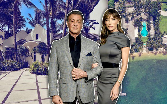 Sylvester Stallone, Jennifer Flavin and 1480 North Lake Way (Getty, Douglas Elliman)