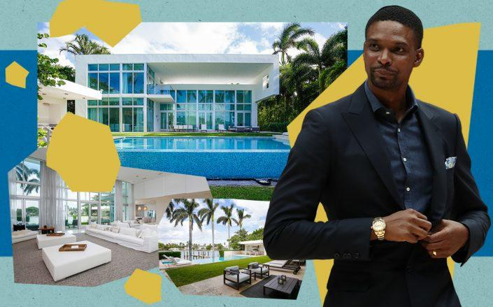 Chris Bosh and his North Bay Road home, 6396 North Bay Road (Getty, One Sotheby's International Realty)