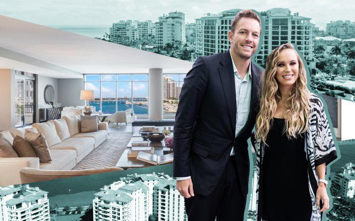 Caroline Wozniacki and David Lee and Palazzo Del Sol, Fisher Island (Photos via Getty; The Jills Zeder Group/photography by Lifestyle Production Group)