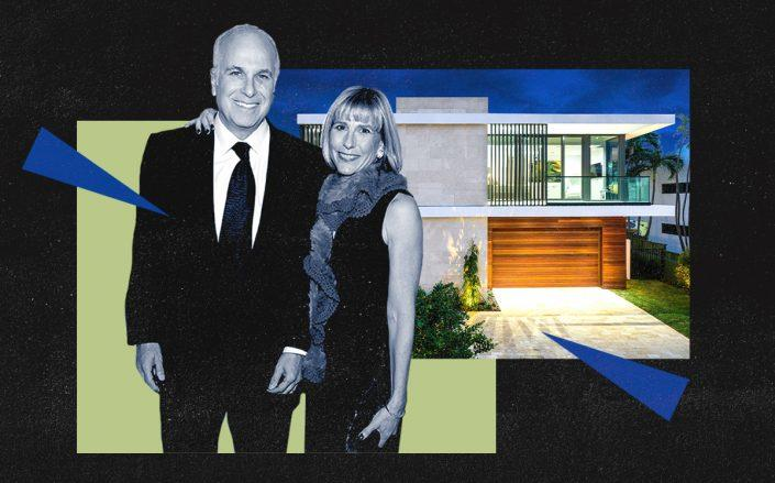 Ira and Paula Resnick with 1410 South Biscayne Point Road (Getty)