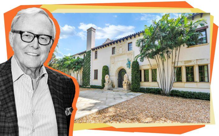 Jim Clark and 120 Jungle Road in Palm Beach (Getty, Douglas Elliman)