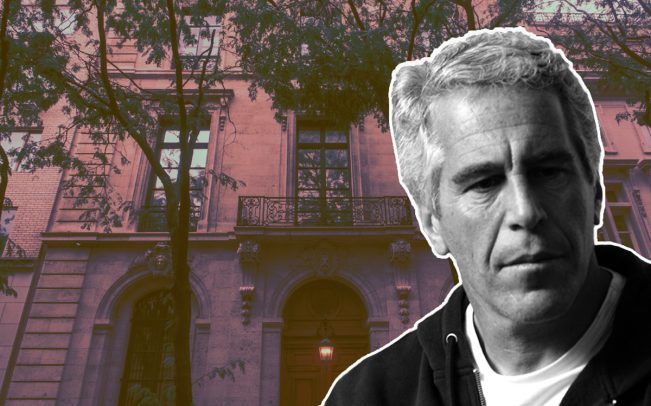 Jeffrey Epstein and his home at 9 East 71st Street in New York (Credit: Getty Images)