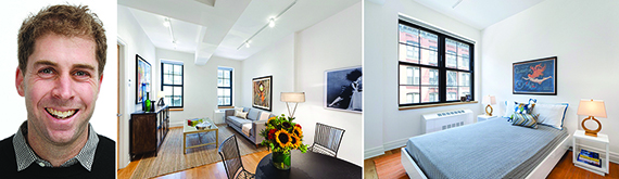 From left: two Trees' Jed Walentas and images of 30 Washington Street