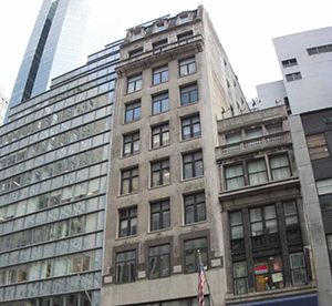 587 Fifth Avenue at center