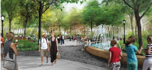 A rendering of Hudson Park & Boulevard (Credit: Hudson Yards Development Corporation)