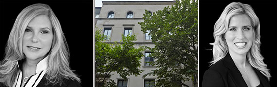 From left: Cathy Franklin, the East 93rd Street townhouse and Alexis Bodenheimer
