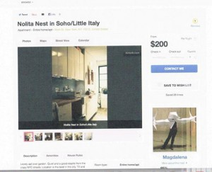 """A screenshot of the """"Noho Nest"""" listing on Airbnb"""