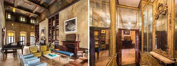 Interior shots of the townhouse at 226-228 East 49th Street