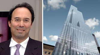 Gary Barnett and a rendering of One57