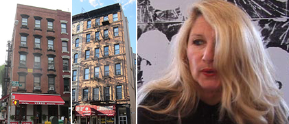 From left: 343 East 8th Street, 60 Avenue B and Jane Holzer