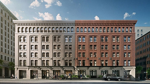 A rendering of the Sterling Mason at 71 Laight Street