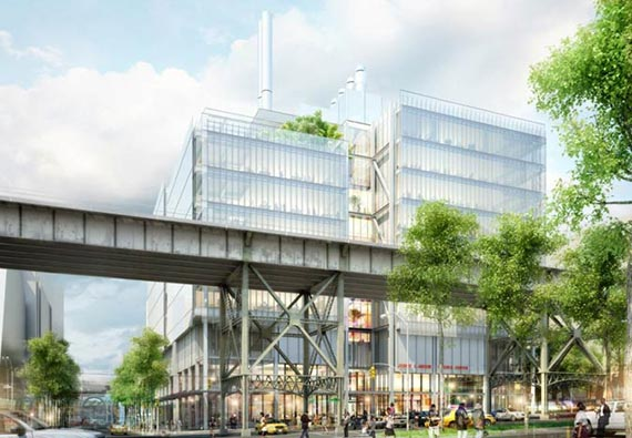 Rendering of theJerome L. Greene Science Center at West 129th Street and Broadway