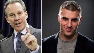 From left: Eric Schneiderman and Brian Chesky