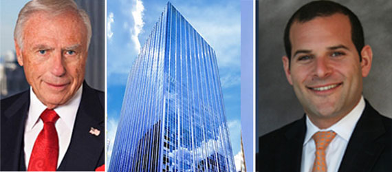 From left: Arnold Fisher, 1345 Avenue of the Americas and Scott Bogetti