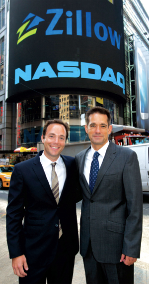 Zillow CEO Spencer Rascoff (left) and Michael Smith, StreetEasy's cofounder