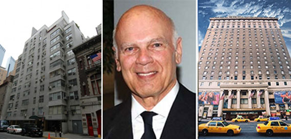 From left: 220 Central Park South, Steven Roth and Hotel Pennsylvania