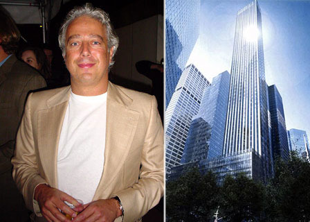 From left: Aby Rosen and a rendering of 610 Lexington Avenue (Credit: SLCE)