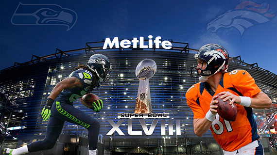 A promotional wallpaper for the Super Bowl on February 2