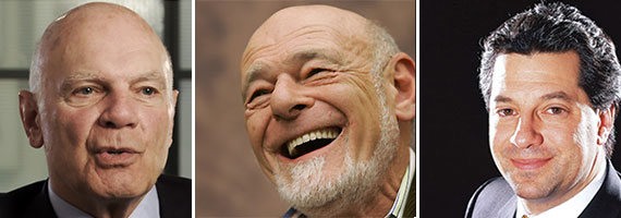 From left: Steven Roth, Sam Zell and Marc Holliday