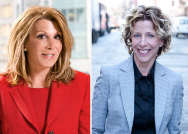 From left: Elliman's Dottie Herman and Patty LaRocco, formerly of Town
