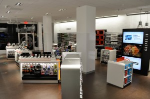 Inside a Radio Shack concept store at 2268 Broadway